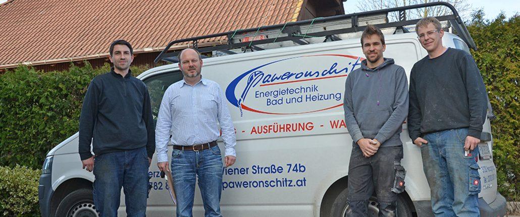Mitarbeiter der Firma Paweronschitz